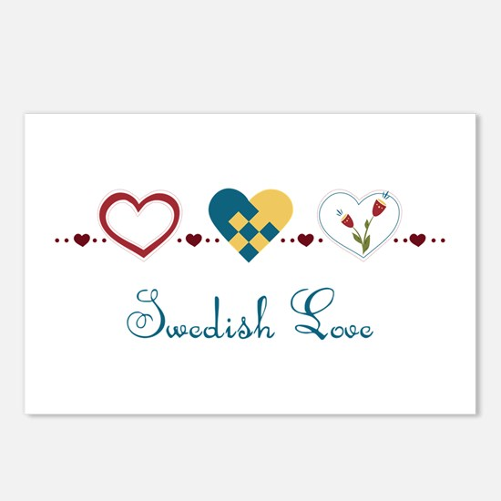 Swedish Love Postcards (Package of 8)