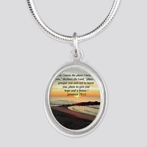 ISAIAH 41:10 Silver Oval Necklace