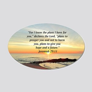 ISAIAH 41:10 20x12 Oval Wall Decal