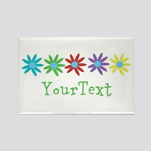 Personalize Flowers Magnets