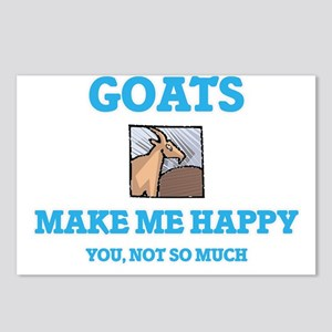 Goats Make Me Happy Postcards (Package of 8)