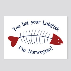 You Bet Your Lutefisk I'm Norwegian! Postcards (Pa