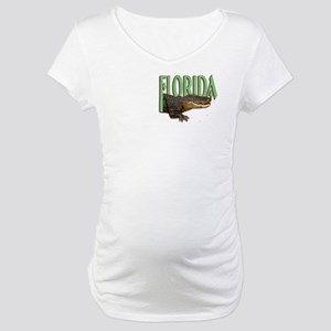 Florida Alligator Maternity T-Shirt