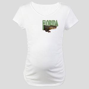 Florida Alligator Maternity T-Shirt