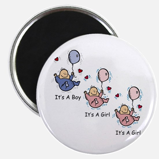 It's a Boy Girl Girl Triplets Magnet