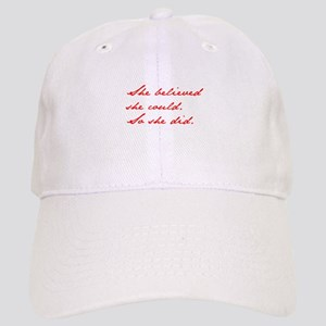 SHE-BELIEVED-SHE-COULD-jan-red Baseball Cap
