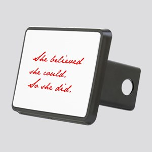 SHE-BELIEVED-SHE-COULD-jan-red Hitch Cover