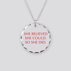 SHE-BELIEVED-SHE-COULD-OPT-RED Necklace