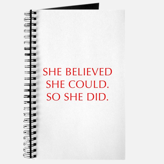 SHE-BELIEVED-SHE-COULD-OPT-RED Journal