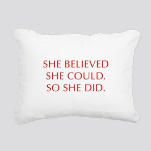 SHE-BELIEVED-SHE-COULD-OPT-RED Rectangular Canvas