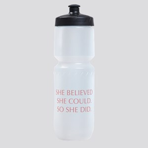 SHE-BELIEVED-SHE-COULD-OPT-RED Sports Bottle