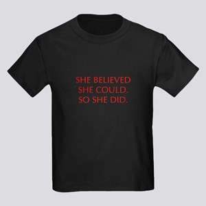 SHE-BELIEVED-SHE-COULD-OPT-RED T-Shirt
