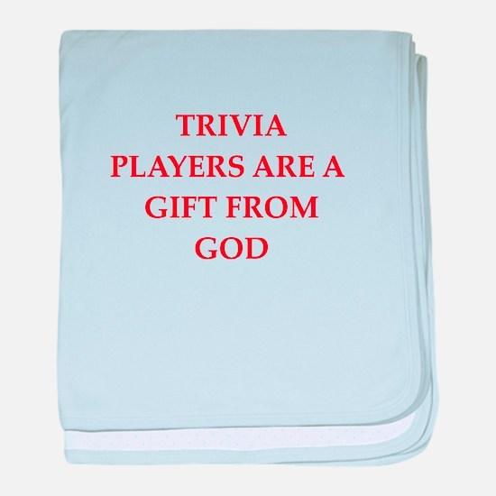 trivia baby blanket