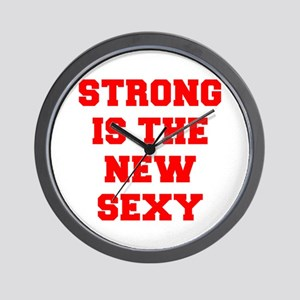 STRONG-IS-THE-NEW-SEXY-FRESH-RED Wall Clock