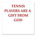 tennis Square Car Magnet 3