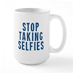 Stop Taking Selfies Mugs