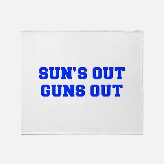 SUNS-OUT-GUNS-OUT-FRESH-BLUE Throw Blanket