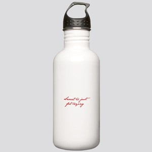 SWEAT-IS-JUST-FAT-CRYING-jan-red Water Bottle