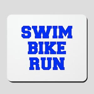 SWIM-BIKE-RUN-FRESH-BLUE Mousepad