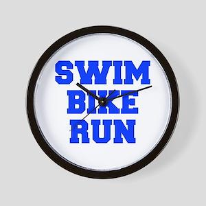 SWIM-BIKE-RUN-FRESH-BLUE Wall Clock