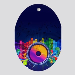 Blue Music Ornament (Oval)