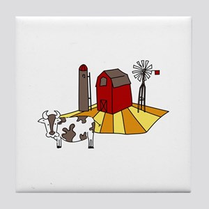 Midwest Farm Cao Cattle Barn Silo Windmill Tile Co