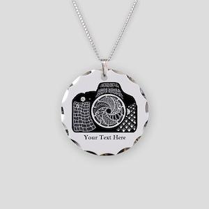 Customizable Camera Original Necklace Circle Charm