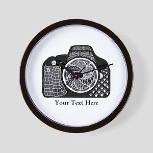 Customizable Camera Original Art Black Wall Clock