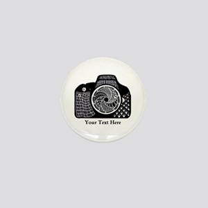 Customizable Camera Original Art Black Mini Button