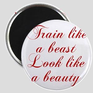 TRAIN-LIKE-A-BEAST-cho-red Magnets