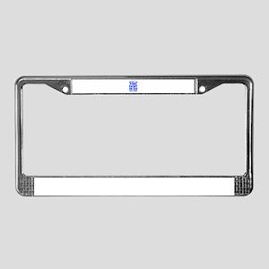 UNLESS-YOU-PUKE-FRESH-BLUE License Plate Frame