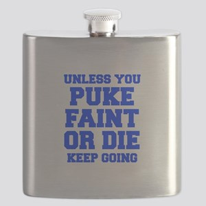 UNLESS-YOU-PUKE-FRESH-BLUE Flask