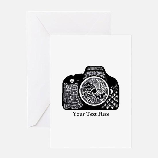 Original Camera Art Personalizable Greeting Card