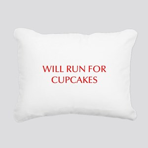 WILL-RUN-FOR-CUPCAKES-OPT-RED Rectangular Canvas P