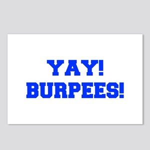 YAY-BURPEES-FRESH-BLUE Postcards (Package of 8)