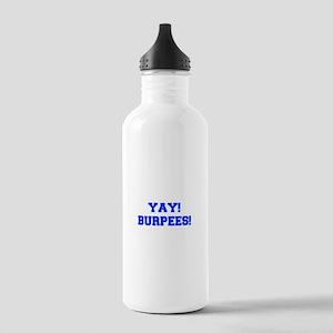 YAY-BURPEES-FRESH-BLUE Water Bottle