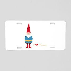 I L ove Gnomes Aluminum License Plate
