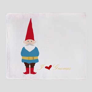 I L ove Gnomes Throw Blanket
