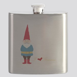 I L ove Gnomes Flask