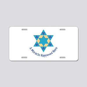 A Miracle Happened Here Aluminum License Plate