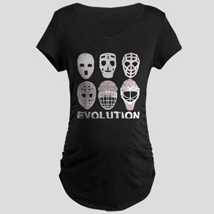 Hockey Goalie Mask Evolution Maternity T-Shirt