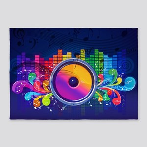 Blue Music 5'x7'Area Rug