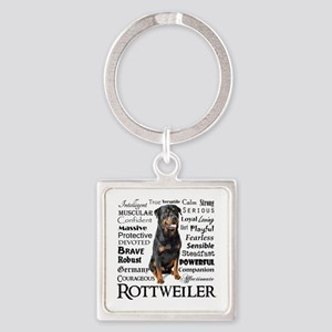Rottie Traits Keychains