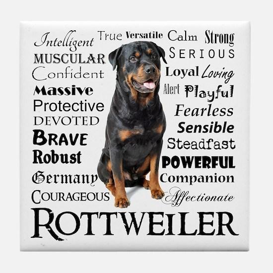 Rottie Traits Tile Coaster