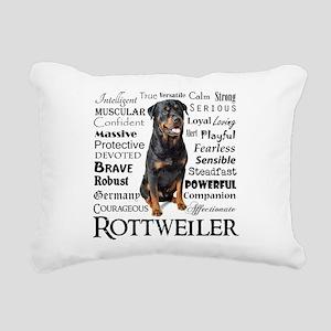 Rottie Traits Rectangular Canvas Pillow
