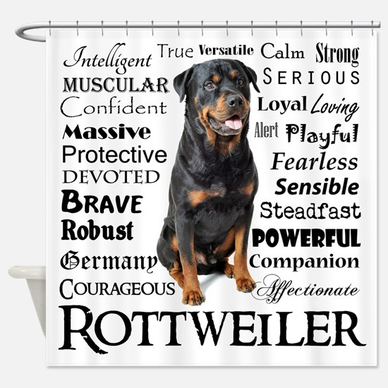Rottie Traits Shower Curtain