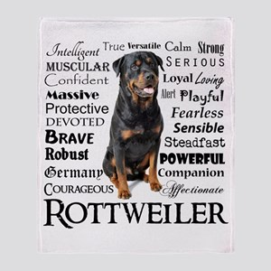 Rottie Traits Throw Blanket