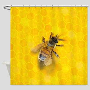 Artsy Bee Shower Curtain