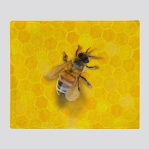 Artsy Bee Throw Blanket