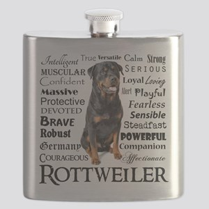 Rottie Traits Flask